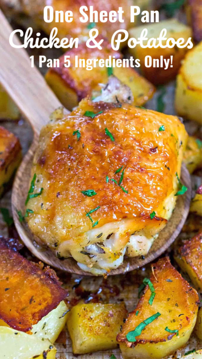 Chicken and Potatoes - 15 Ingredients Only! - Sweet and ..