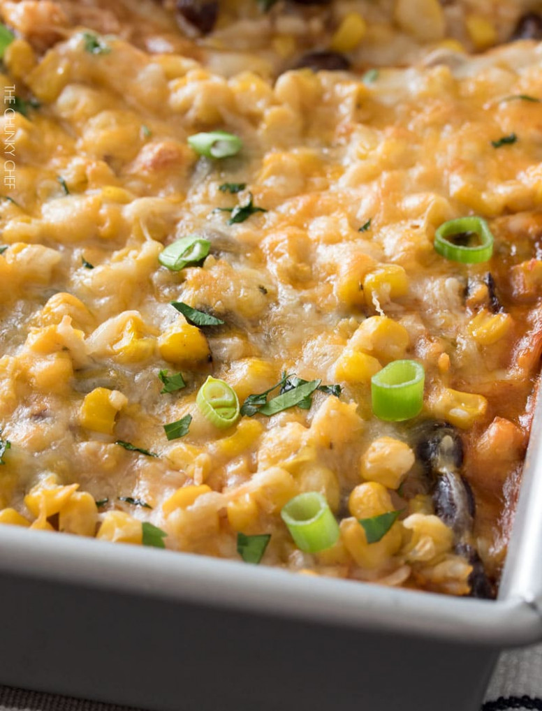 Chicken And Rice Enchilada Casserole - Recipes With Leftover Chicken