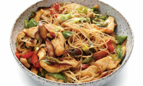 Chicken And Rice Noodle Stir Fry With Ginger And Basil – Vermicelli Noodle Recipes Chicken