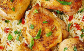 Chicken And Rice With Sun Dried Tomatoes, Fresh Basil ..