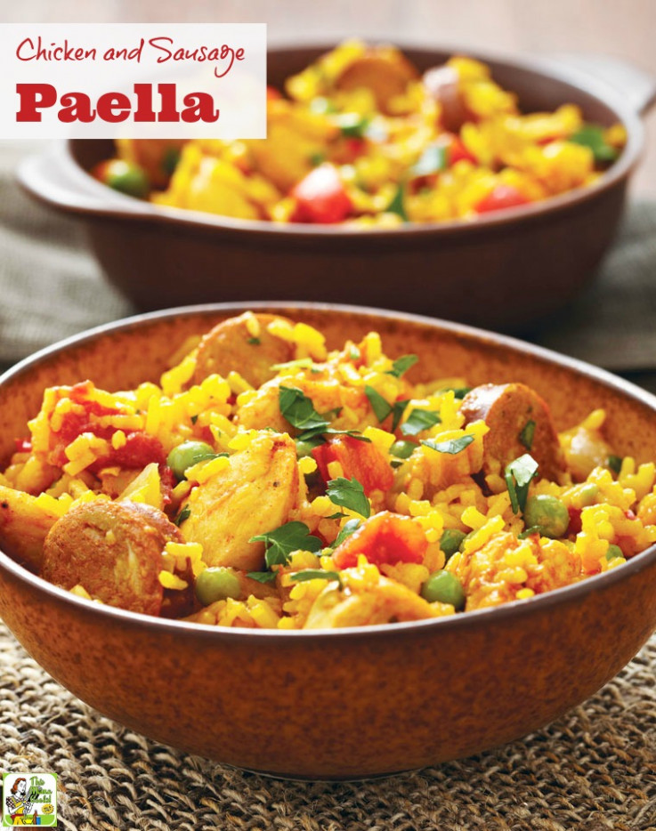 Chicken and Sausage Paella | This Mama Cooks! On a Diet™ - paella recipes chicken