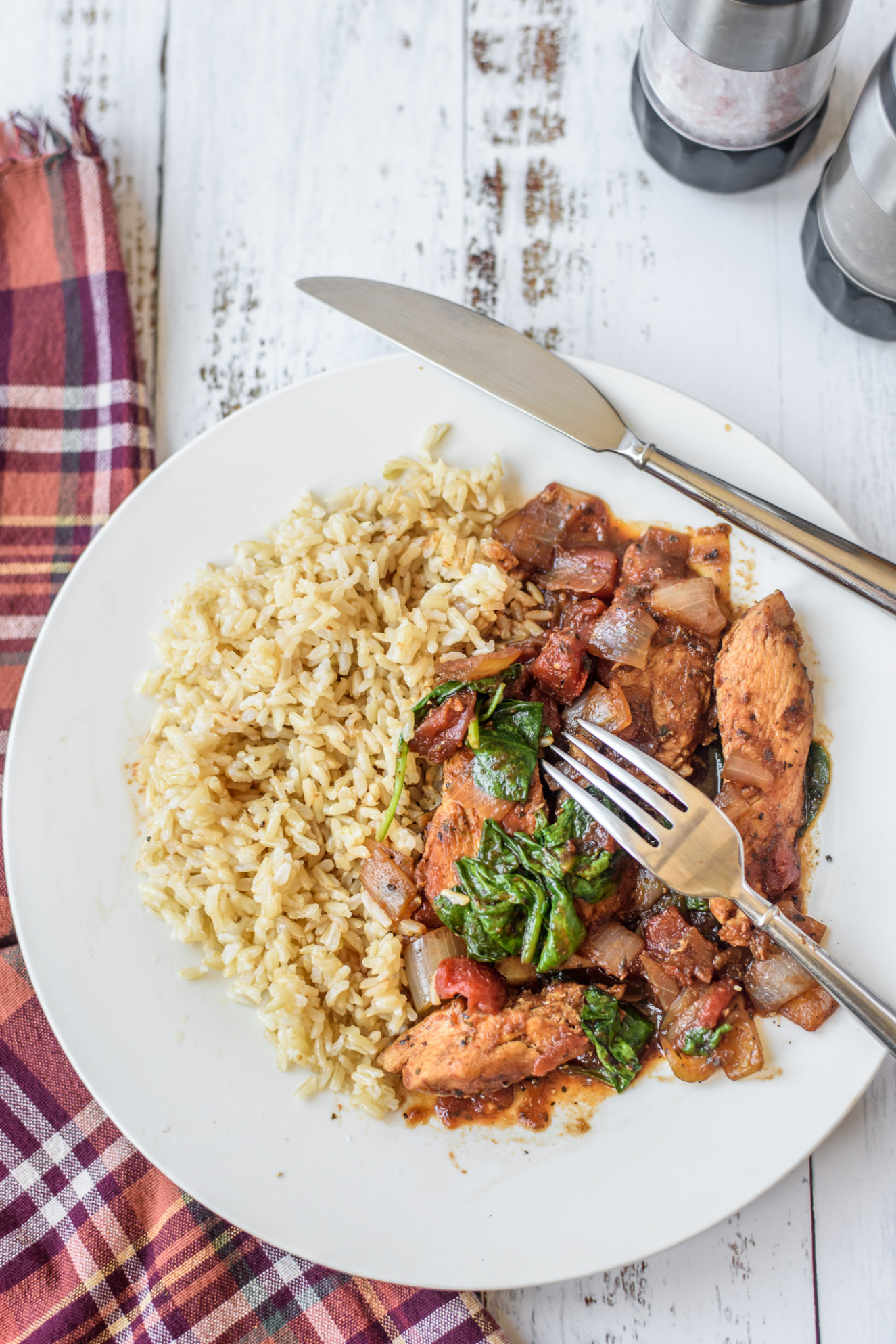 Chicken and Spinach Skillet Dinner - chicken recipes easy healthy