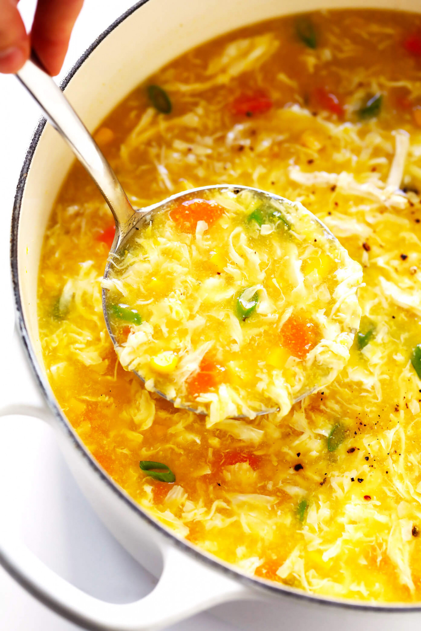 Chicken And Sweet Corn Soup | Gimme Some Oven - Soup Recipes Chicken