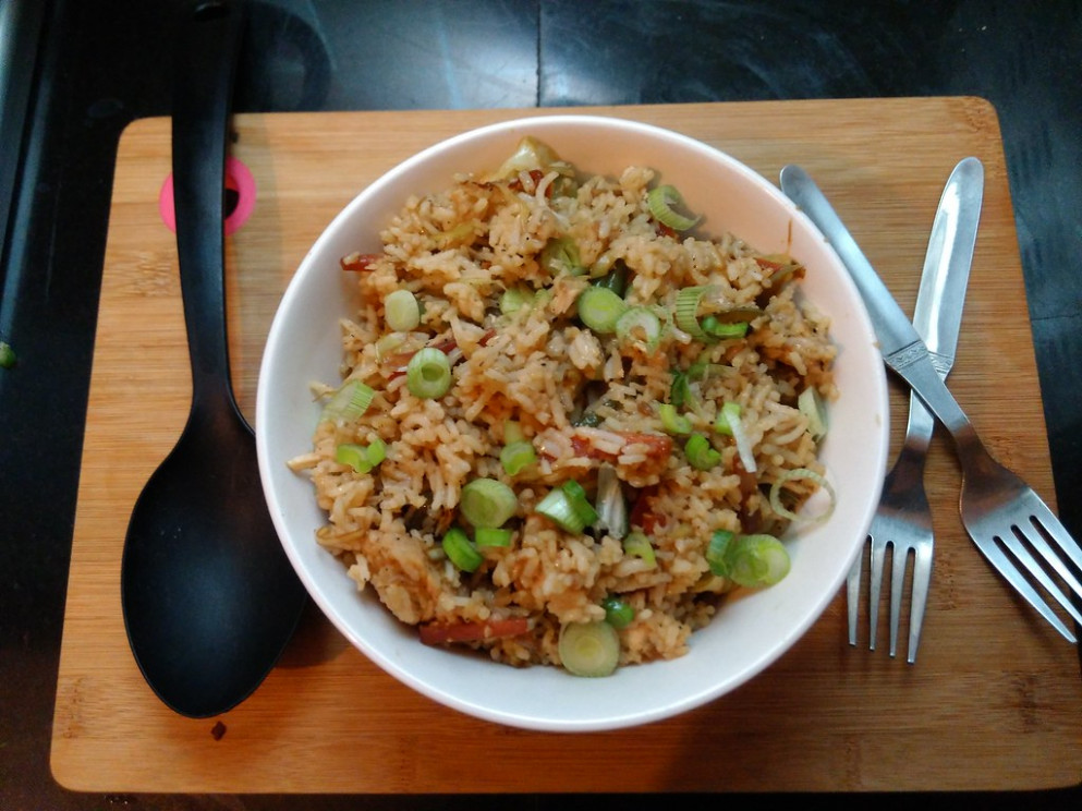 Chicken And Vegetable Fried Rice - Chicken Recipes Video In Hindi