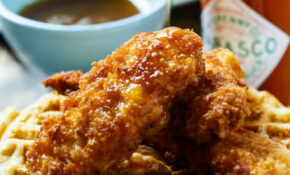 Chicken And Waffles With TABASCO Maple Syrup – Spicy ..
