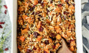 Chicken And Wild Rice Casserole With Butternut Squash And Cranberries – Healthy Chicken And Rice Recipes