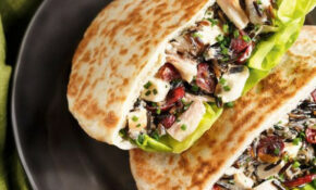 Chicken And Wild Rice Salad Pitas | Recipe In 2019 | I ..