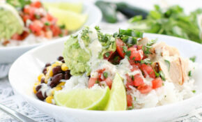 Chicken Avocado Cilantro Burrito Bowls – Avocado Recipes Chicken