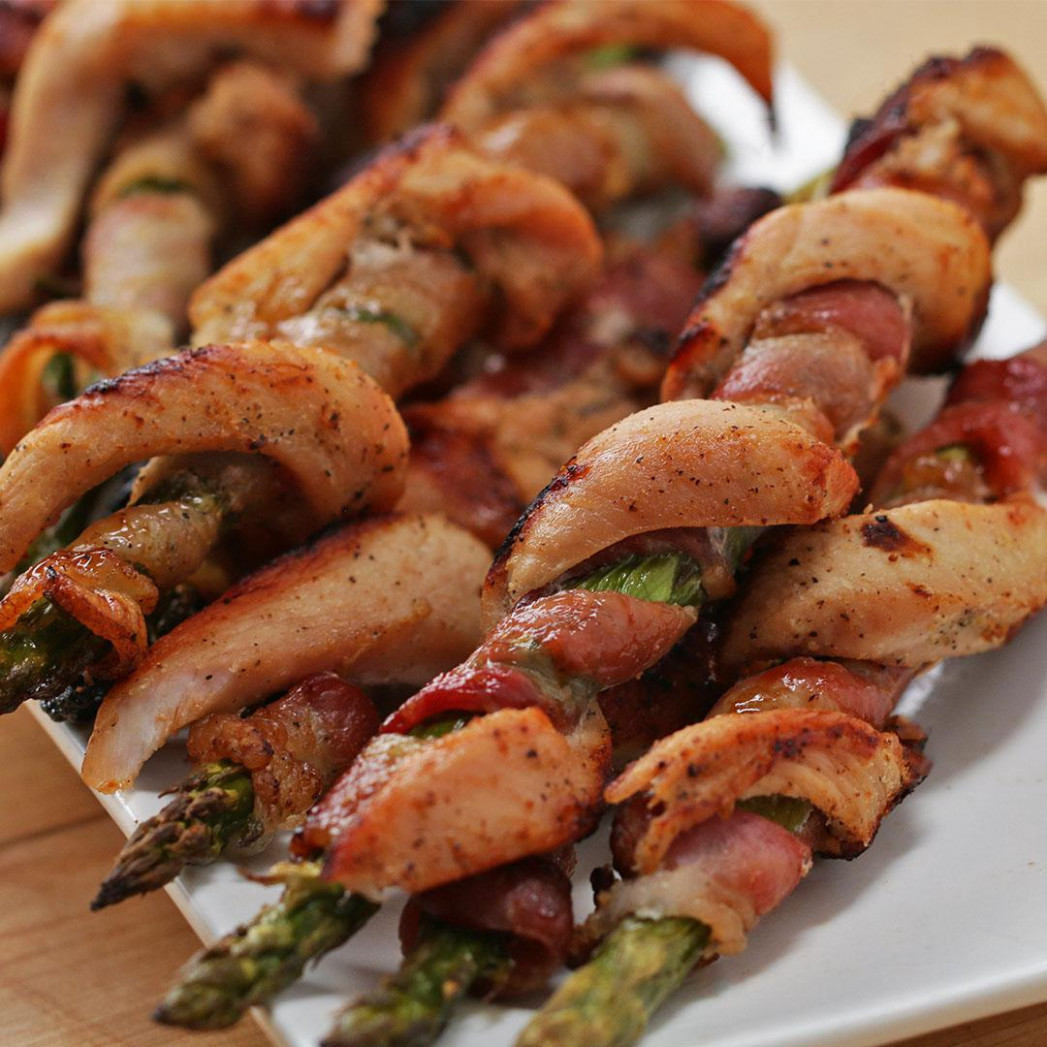 Chicken Bacon Asparagus Twists Recipe by Tasty - recipes asparagus and chicken