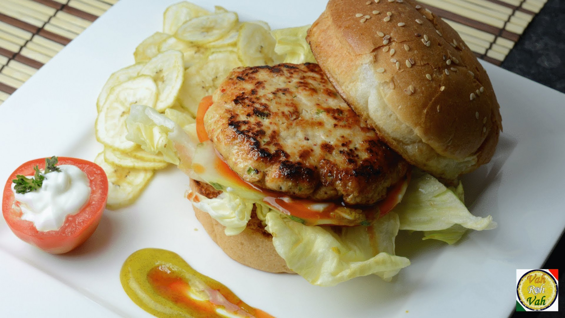 Chicken Burger - By VahChef @ VahRehVah.com - TotesWild ..