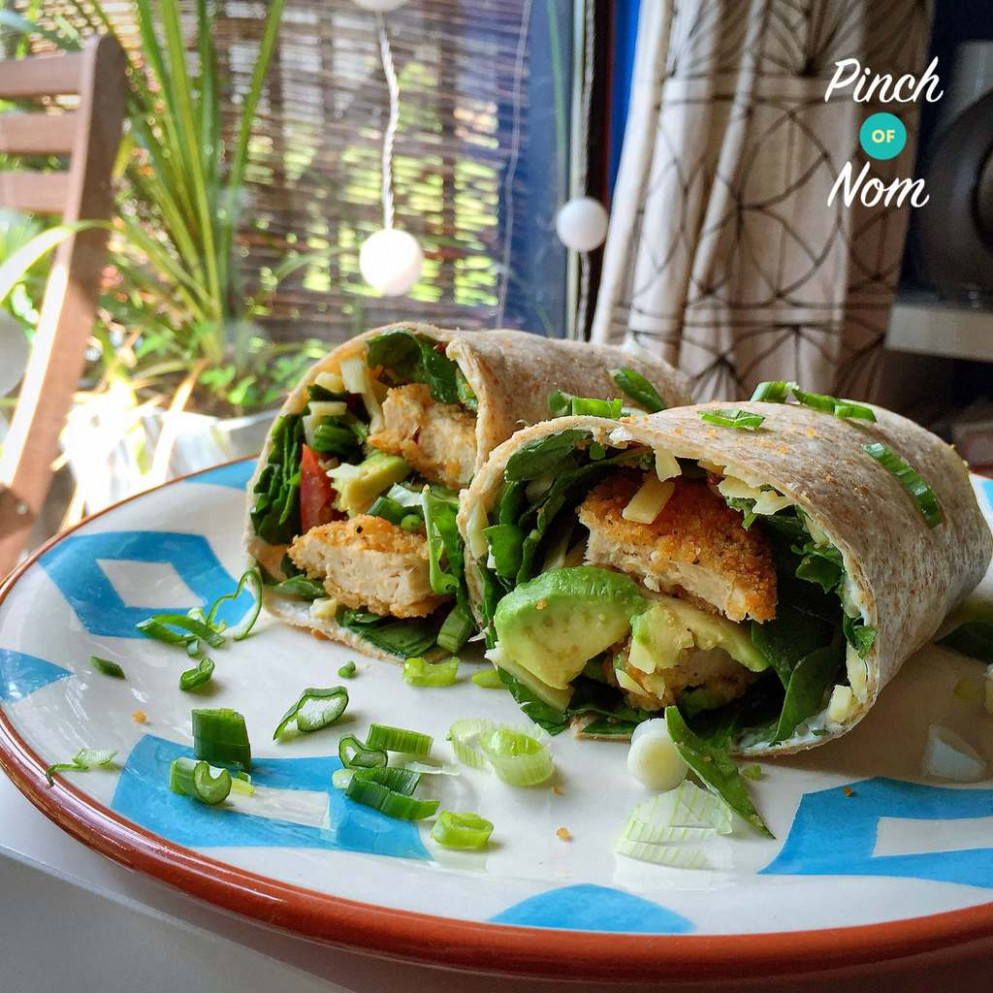 Chicken Burger Wrap - Pinch Of Nom - quorn recipes chicken