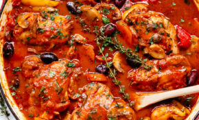 Chicken Cacciatore – Cafe Delites – Chicken Recipes Bone In