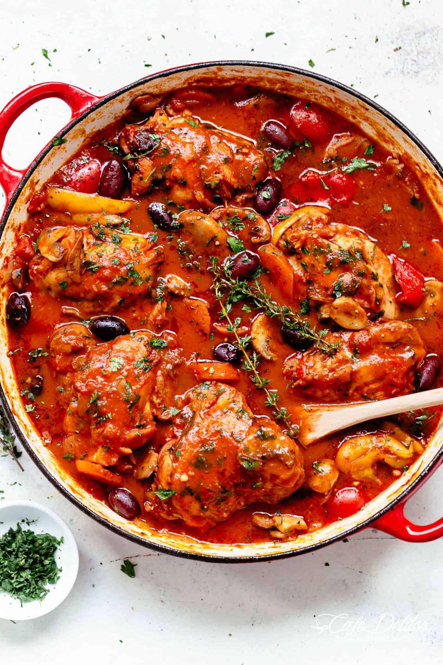 Chicken Cacciatore - Cafe Delites - chicken recipes bone in