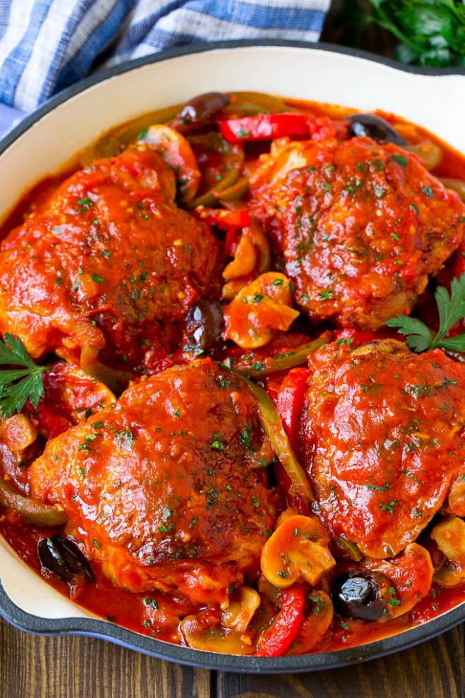 Chicken Cacciatore - Dinner At The Zoo - Recipes Dinner Italian