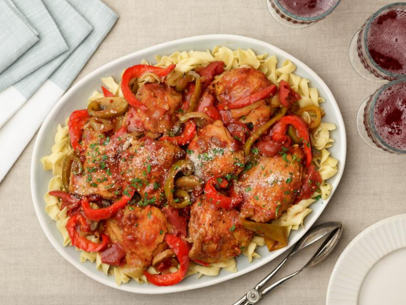 Chicken Cacciatore Recipe | Ree Drummond | Food Network - Ree Drummond Recipes Chicken