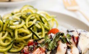 Chicken Caprese With Pesto Zucchini Noodles – Chicken Recipes Zucchini