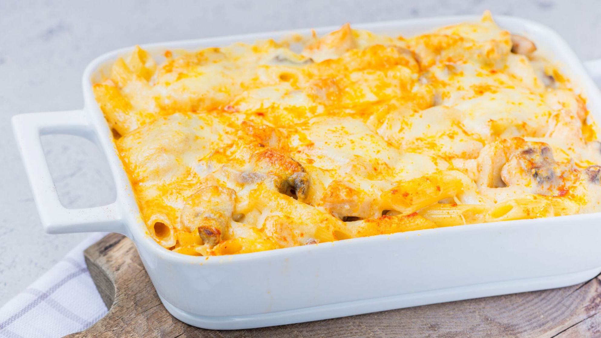 Chicken, Cheese, and Penne Pasta Bake - pasta bake recipes chicken
