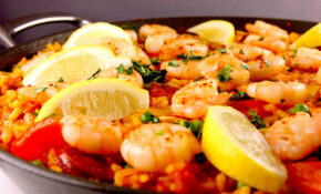 Chicken, Chorizo And King Prawn Paella – Paella Recipes Chicken