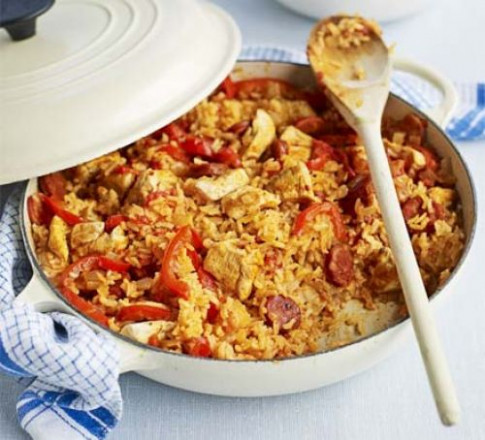 Chicken & chorizo jambalaya recipe | BBC Good Food - chorizo recipes dinner