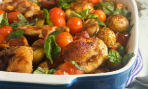Chicken, Chorizo & 'patatas Bravas' Tray Bake – Tray Bake Recipes Chicken