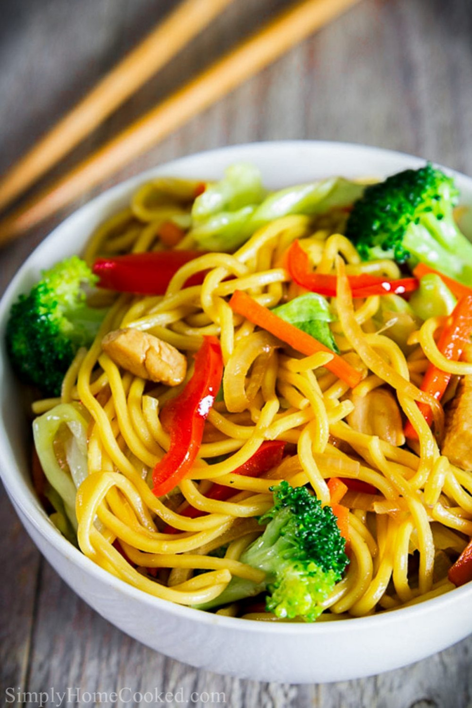 Chicken Chow Mein - Simply Home Cooked - lo mein recipes chicken