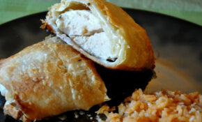 Chicken & Cream Cheese Stuffed Puff Pastry – SheKnows – Puff Pastry Recipes Dinner