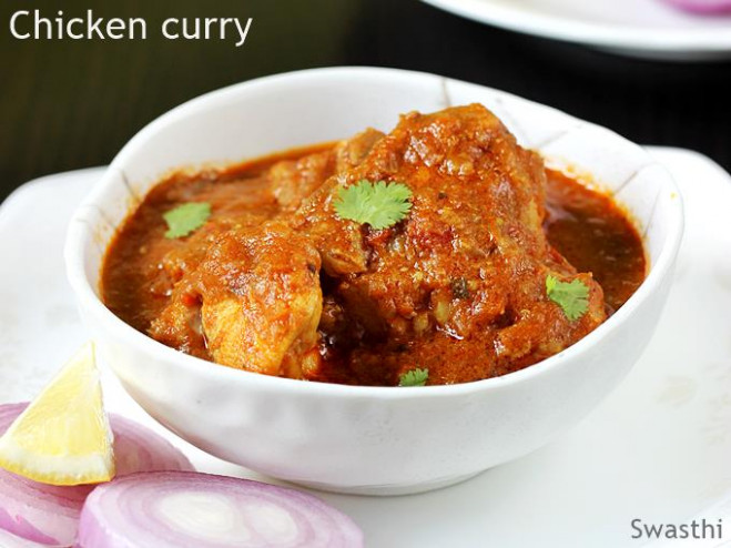 Chicken curry recipe | How to make chicken curry - Swasthi ..