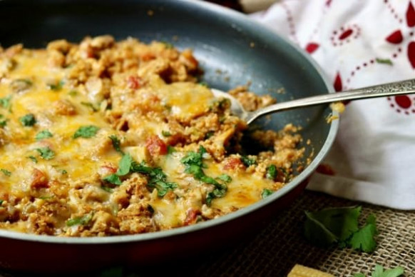 Chicken Enchilada Skillet Dinner: Low Carb Tex-Mex ..