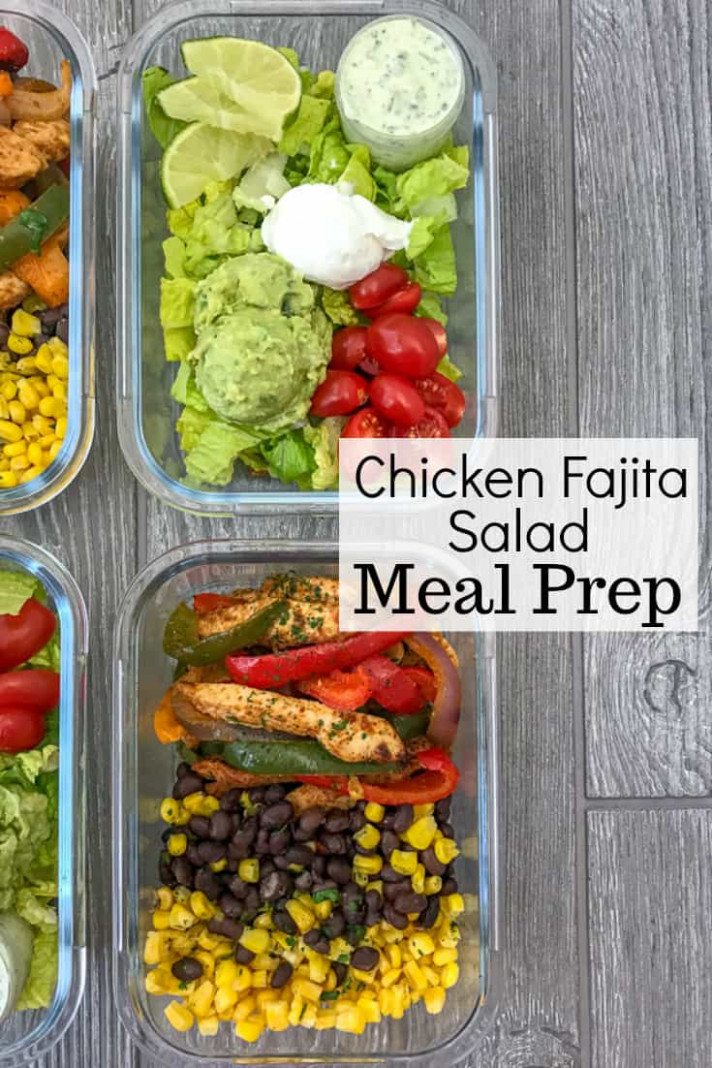 Chicken Fajita Salad Meal Prep - meal prep recipes chicken breast