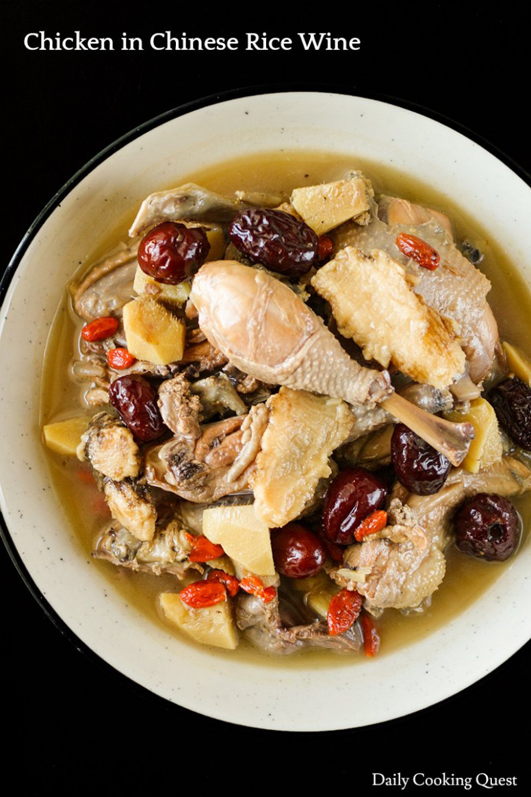 Chicken in Chinese Rice Wine - chinese recipes chicken