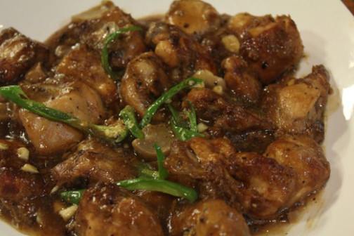 Chicken In Garlic And Black Pepper Sauce Recipe by Zubaida ..