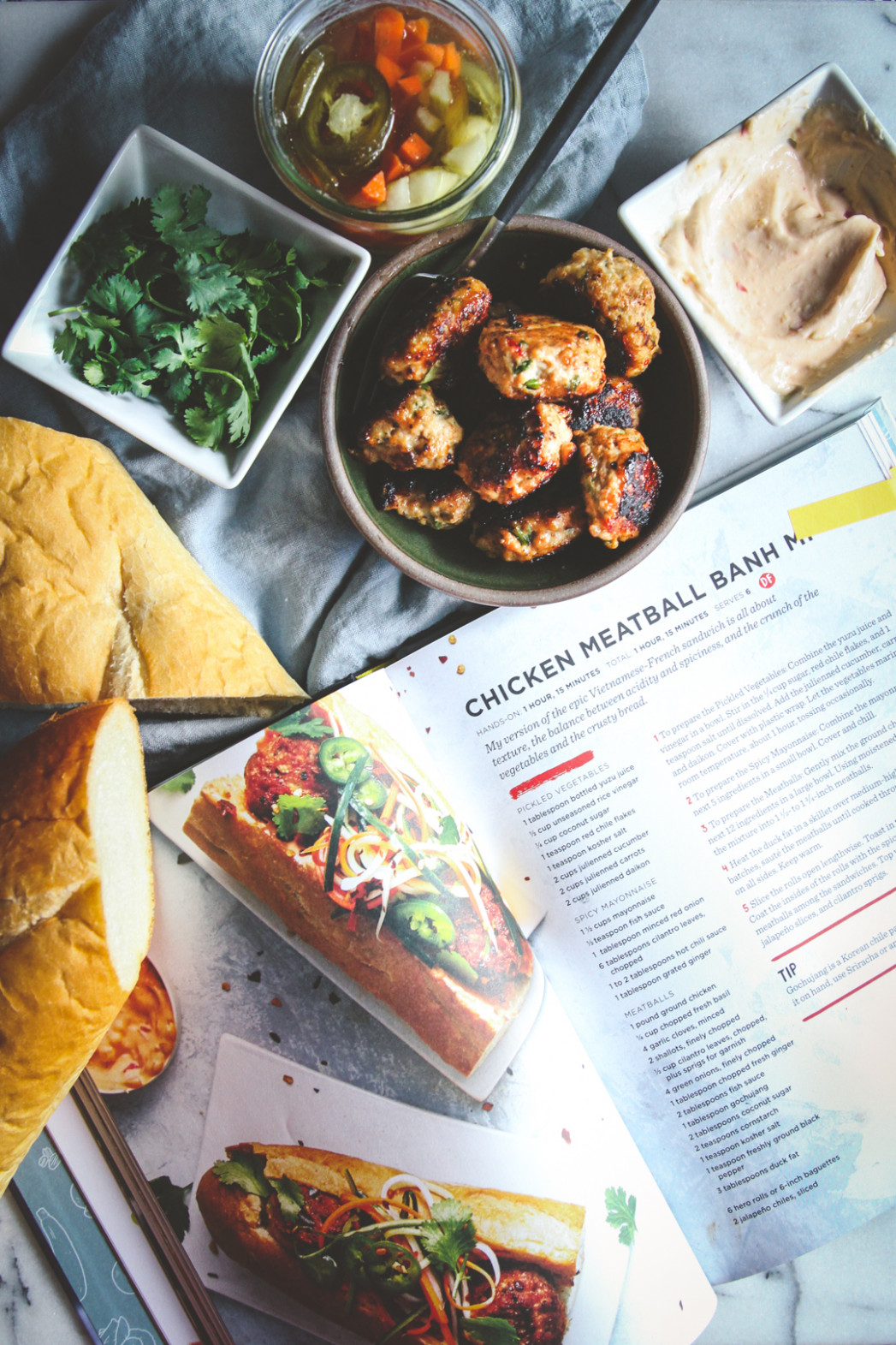 Chicken Meatball Banh Mi Sandwiches - Sweetphi - recipes you can make with ground chicken