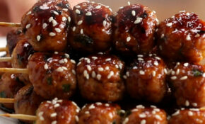 Chicken Meatball Skewers Recipe by Tasty