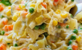Chicken Noodle Casserole – Life In The Lofthouse – Chicken Noodle Casserole Recipes
