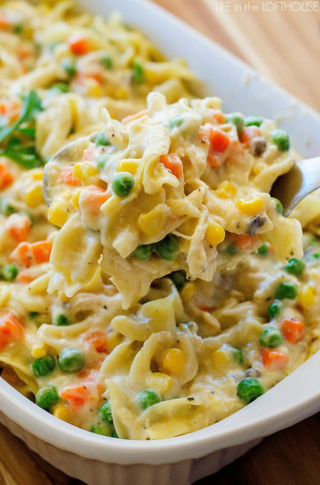 Chicken Noodle Casserole - Life In The Lofthouse - chicken noodle casserole recipes