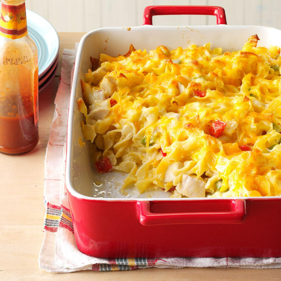 Chicken Noodle Casserole Recipe | Taste of Home - chicken recipes casserole
