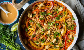 Chicken Noodle Stir Fry With Spicy Thai Peanut Sauce | The ..