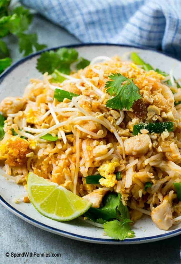 Chicken Pad Thai - Spend With Pennies - thai food recipes