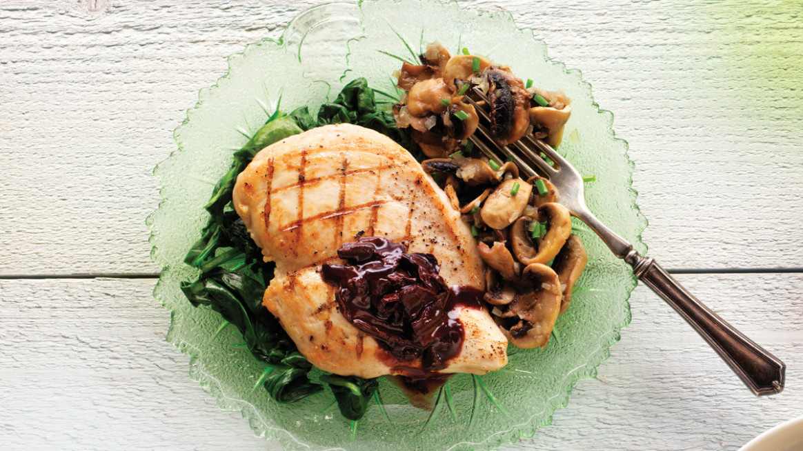 Chicken Paillards with Porcini, Red Wine & Butter Sauce - chicken recipes red wine