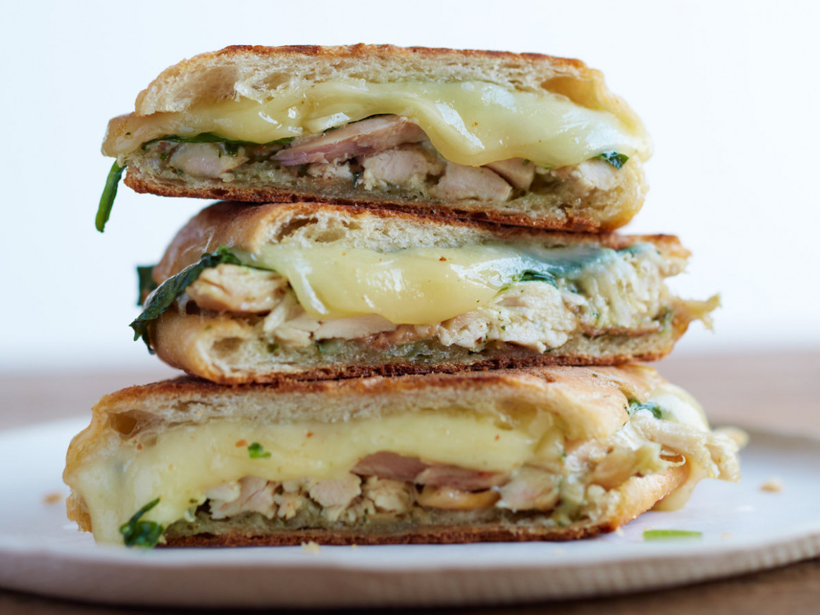 Chicken Panini with Spinach and Pesto - recipes pesto chicken