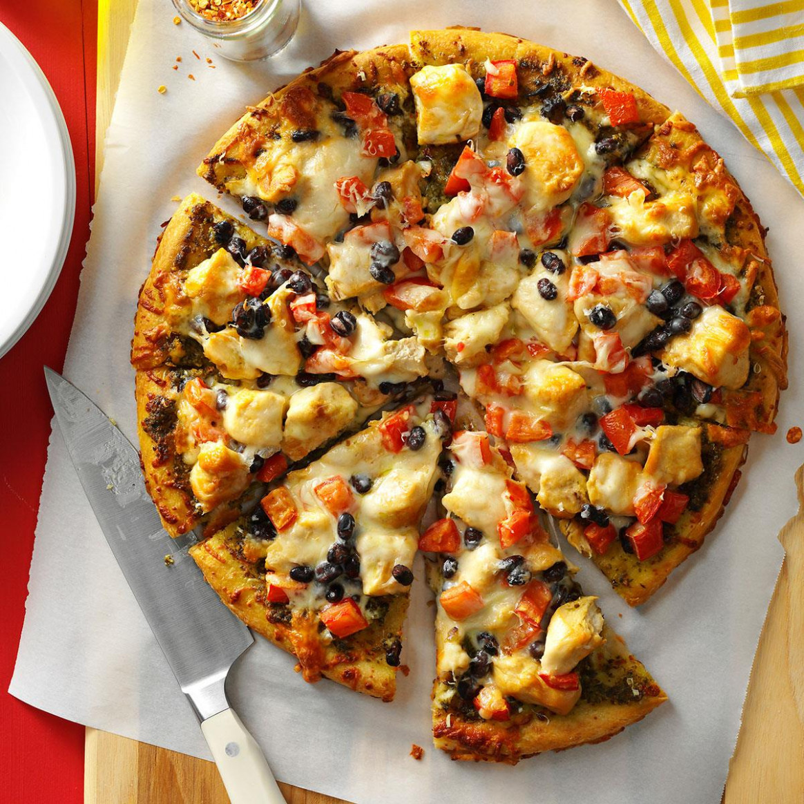 Chicken Pizza Recipe | Taste of Home - chicken recipes with pictures pdf