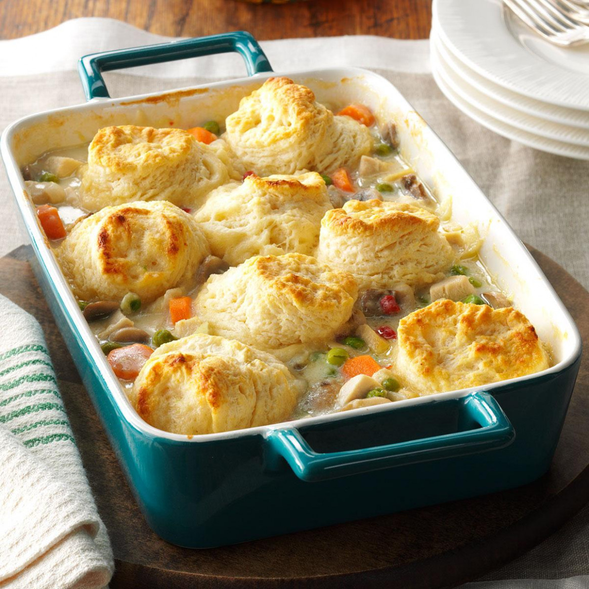 Chicken Potpie Casserole Recipe | Taste of Home - recipes with no food in the house