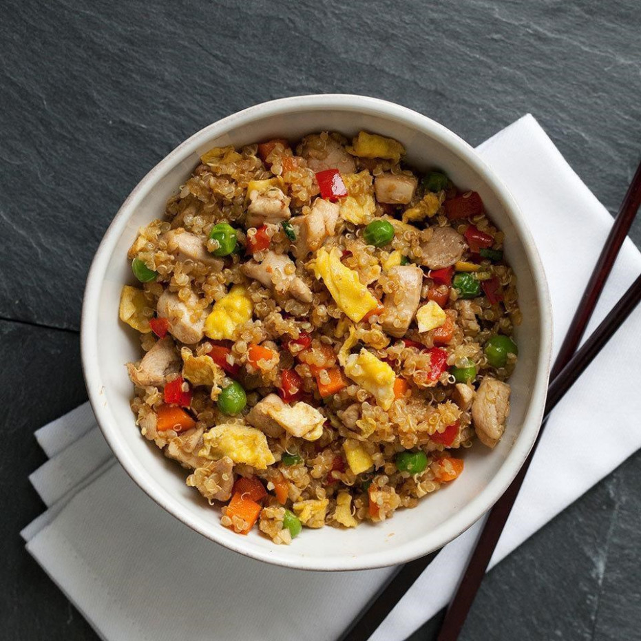 Chicken Quinoa Fried Rice Recipe - EatingWell - Recipes Quinoa Chicken