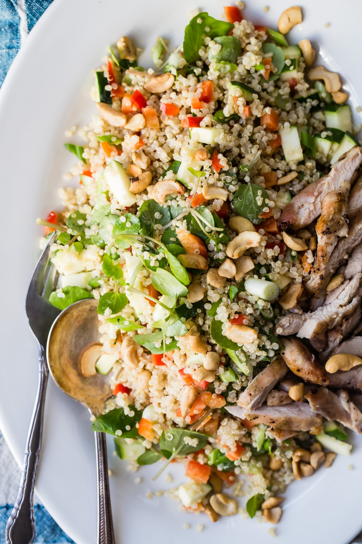 Chicken Quinoa Salad with Dijon Mustard Dressing - recipes quinoa chicken