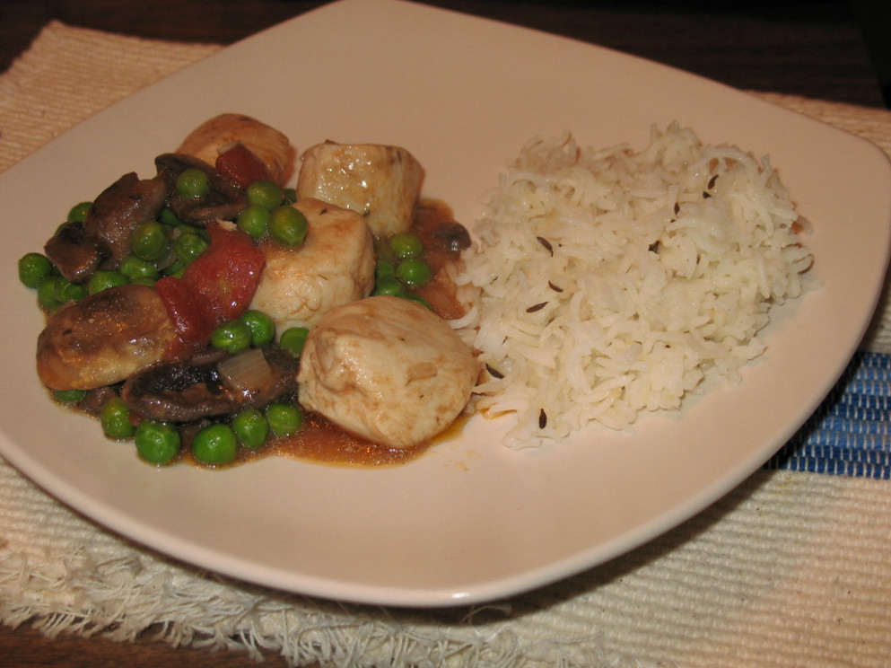 Chicken Ragout & Cumin Scented Rice - recipes you can make with chicken breast