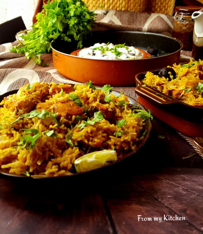Chicken Rice( A Fusion Of Arabic And Indian) - From My Kitchen - Chicken Recipes Arabic