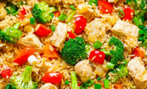 Chicken, Rice, And Vegetable Skillet – Averie Cooks – Chicken With Vegetables Recipes Easy
