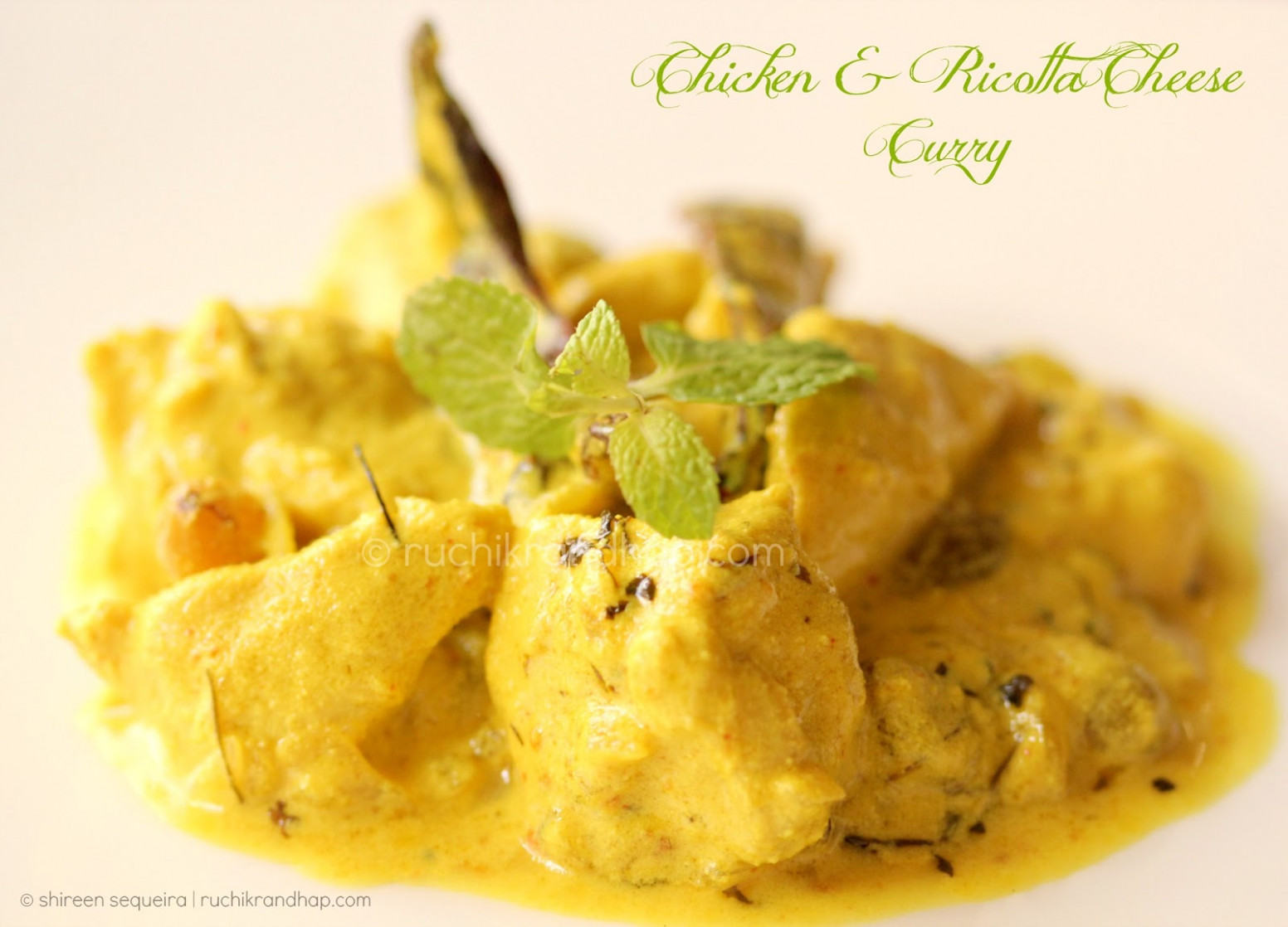 Chicken & Ricotta Cheese Curry | Ruchik Randhap - vikas khanna recipes chicken