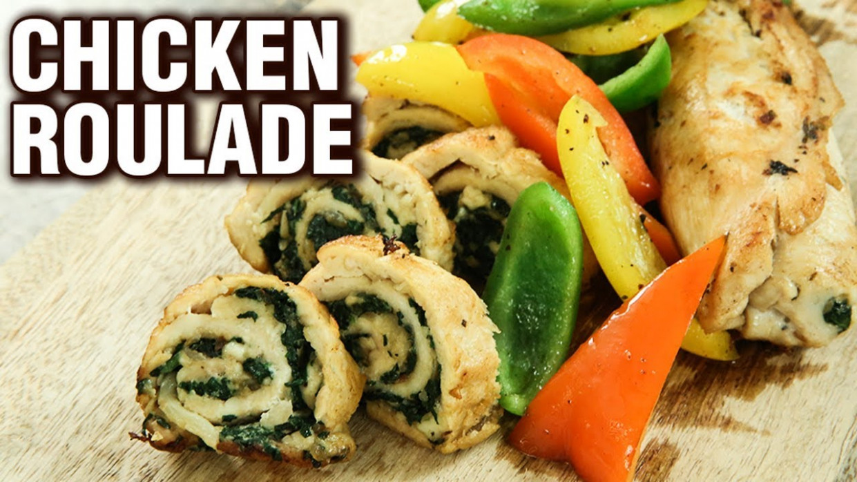 Chicken Roulade Recipe - How To Make A Chicken Roulade - Chicken Starter  Recipe - Varun Inamdar - chicken recipes varun inamdar