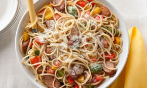 Chicken Sausage, Peppers & Tomatoes With Linguine – Kraft ..